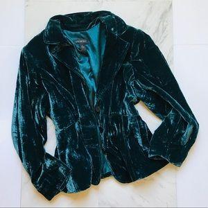 Lane Bryant 24 Crushed Velvet Teal Jacket Buttons